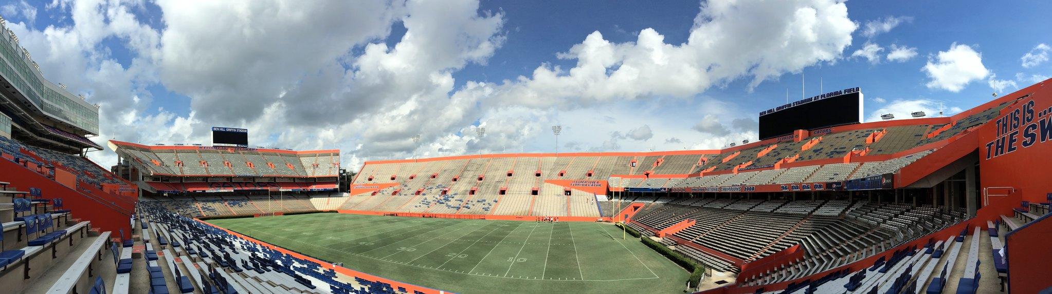 佛罗里达大学 - Gainesville - University of Florida - Ben Hill Griffin Stadium - Inside Panorama - University of Florida