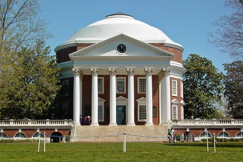 弗吉尼亚大学 - The Rotunda building at the University of Virginia - University of Virginia