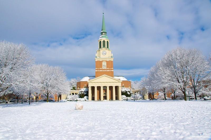 维克森林大学 - Snow at Wake Forest University - Wake Forest University